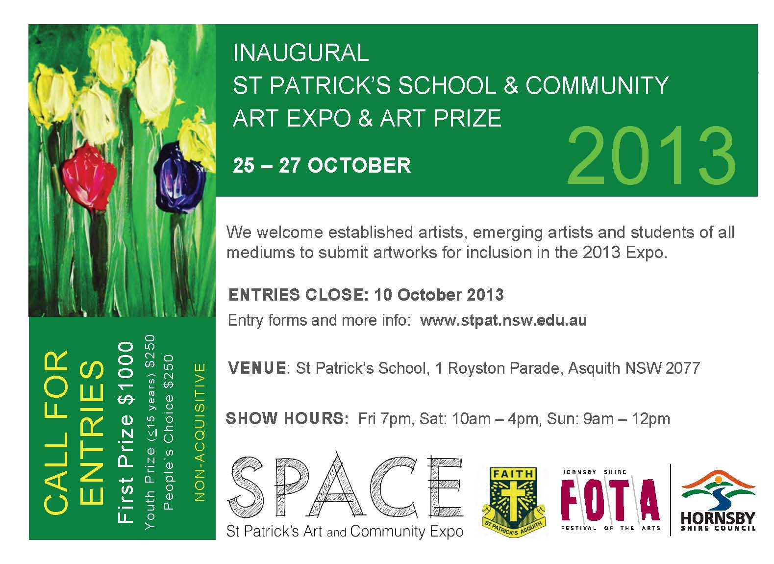 SPACE - St Patrick's School and Community Art Prize and Exhibition